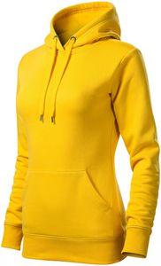Damen Sweatshirt mit Kapuze ohne Reißverschluss - Gelb - L