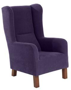 Max Winzer Bruno Hochlehnsessel - Farbe: violett - Maße: 69 cm x 88 cm x 114 cm; 2881-1100-2051798-F07