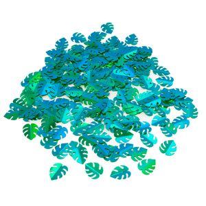 Oblique Unique Konfetti Monstera Blätter 300 Stk. Tisch Deko Streudeko Geburtstag Sommer Hawaii Party grün blau