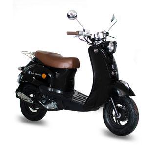 GMX 460 Retro Classic Motorroller 45 km/h schwarz Euro 4.