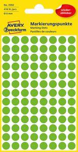 AVERY Zweckform Markierungspunkte ablösbar 8 mm grün 416 Stück
