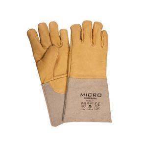 NITRAS Micro-Welder Schweißer-Schutzhandschuhe Rindsvollleder Schweißerhandschuhe gefüttert Größe:9