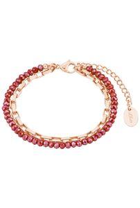 s.Oliver Armband für Damen, Edelstahl Rot