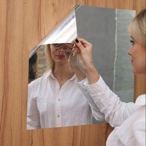 Soft Mirror Mirror Aufkleber Mirror Ganzkörperspiegel Übung Haha Mirror Selbstklebende Wandaufkleber Handgefertigt