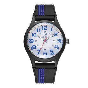 Herren Soft Silikon Kautschuk Armband Sport Mode Uhr Simulierte Quarzuhr