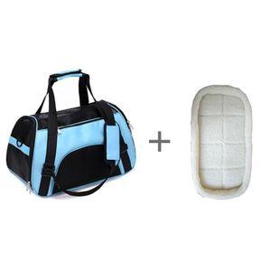 Haustier-Rucksack Messenger Tragetaschen Cat Dog Carrier-Travel-Pakete atmungsaktiv -(blau und matt,53x26x36cm)