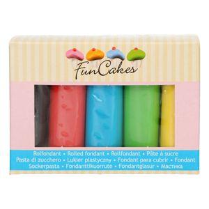 FunCakes Fondant Multipack Essential Colours 5x100g