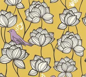 A.S. Création Vliestapete Palila Tapete gelb lila weiß 10,05 m x 0,53 m 363173 36317-3
