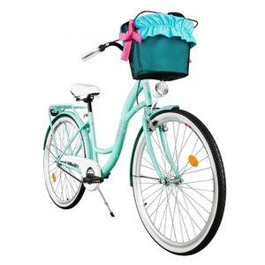 Milord Komfort Fahrrad Mit Korb Damenfahrrad, 28 Zoll, Blau, 3 Gang Shimano