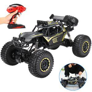 Sunnyme 1:8 RC Groß Monster Truck 50cm Ferngesteuerte Auto Buggy Geländewagen 4WD für Kinder - Schwarz