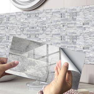 12.24.48 Stück Fliesenaufkleber Küche Badezimmer Selbstklebende Nachbildung,Farbe: KIT039,Größe:48 Stück