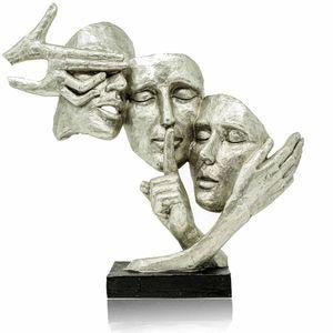 Formano Dekoration Masken – hochwertige silberne Masken als Deko für Zuhause oder als Geburtstagsgeschenk