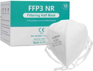 10X Mezorrison FFP3 Maske Atemschutzmasken, Einwegmaske in 149: 2001 + A1: 2009, Atemschutz-Mehrschicht-Schutzmaske mit hoher Filtrationskapazität