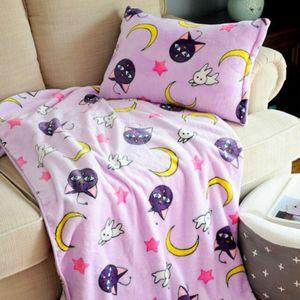 Anime Sailor Moon Decke Soft Flannel Throw Blanket Shaggy Klimaanlage Kühldecke -H04