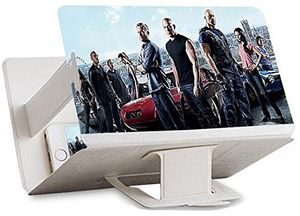 Universal tragbarer Falten Smartphone 3D Screen Magnifier für alle Smartphone Arten. Smartphone Bildschirm Vergrößerungslupe mit 3D Effekt. WEIß White ⭐️⭐️⭐️⭐️⭐️