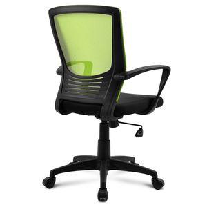 Mesh Computertisch Stuhl mit Rückenlehne, drehbarer Schreibtischstuhl mit Höhenverstellung, Armlehne und ergonomischer Tailestütze, Grün