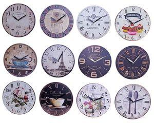 Wanduhr Ø 29 Küchenuhr Wandbehang Wanddeko Uhr 12 verschiedene Desings wählbar, Motiv:Coffee Shop