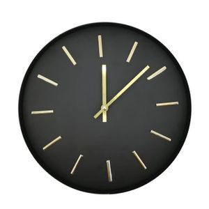 ORO Uhr - Metall - Schwarz und Gold - D30X3.5cm