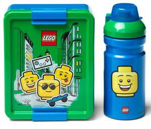 LEGO® Lunchset Boy Grün / Blau