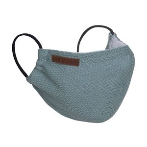 Knit Factory Lola Mundmaske - Stone Green - One Size