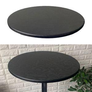 Dekorative runde tisch abdeckung wasserdichtes polyester runde tischdecke 60cm Schwarz Einfarbig 60cm Durchmesser