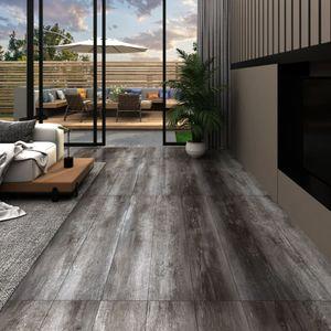 PVC-Laminat-Dielen 4,46 m² 3 mm Gestreift Holzoptik