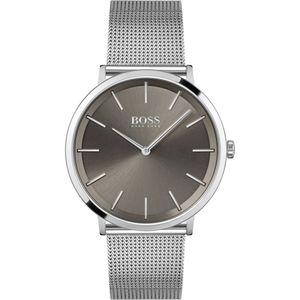 Hugo Boss Herren Analog Armbanduhr in Grau/Silber|1513828