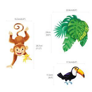 Wandsticker Affen im Dschungel