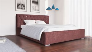 Polsterbett Bett Doppelbett DUCCIO 140x200cm inkl.Bettkasten