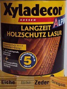 Xyladecor Alpin Zeder Langzeit Holzschutzlasur 5 L (** Lieferung erfolgt in 1 Liter oder 5 Liter Gebinden**)