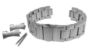 Timex Herren Uhrenarmband 20mm Edelstahl matt silberfarben TW2R46700