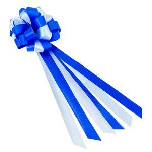 Oblique Unique Geschenkschleife mit Geschenkband Groß Deko Schleifen - blau weiß