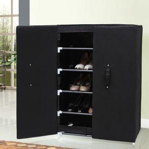 SONGMICS Schuhschrank mit 6 Ebenen und 2 Türen   für 15-20 paar Schuhe   schwarz 61 x 89 X 28 cm Schuhablage Schuhregal Schuhständer RXA16H