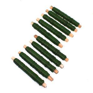 10 Rollen Wickeldraht grün Blumendraht Bindedraht a 100g 0,65mm 1kg