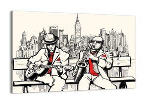 """Leinwandbild - 120x80 cm - """"New Yorker Improvisation""""- Wandbilder - New York Musiker - Arttor - AA120x80-3599"""