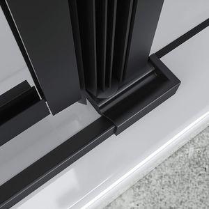Duschbär Duschkabine 75x95x190 cm Celine mit Eckeinstieg aus durchsichtigem ESG Sicherheitsglas mit schwarzen Aluprofilen DGK73