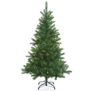 Weihnachtsbaum 140/150/180/240 cm Ständer künstlicher Tannenbaum Christbaum Baum Tanne Weihnachten Christbaumständer PVC Grün/Weiß, Variante / Größe:Mix 140cm