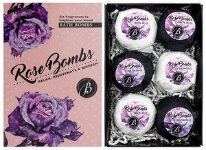 "6er Set Badebomben BRUBAKER Cosmetics ""Rose Bombs"" - Handgemacht - Vegan - Glutenfrei - Parabenfrei"
