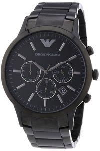 Emporio Armani Herren Uhr AR2453 Edelstahl schwarz Chronograph