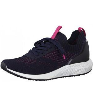 TAMARIS Fashletics Damen Sneaker Blau/Pink, Schuhgröße:EUR 38