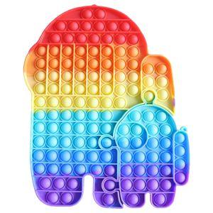 1X Große Größe Push Pop It Pop Bubble Spielzeug,Verwendet für Autismus, Stress Abzubauen Braucht zappeln Spielzeug(Among Us)