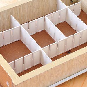 6er Pack Kunststoff Schubladenorganizer Schubladeneinteiler Verstellbar Schubladenteiler Fachteiler