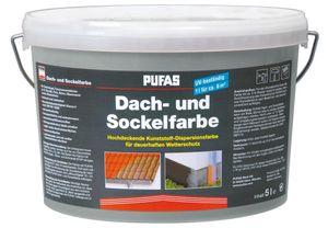 PUFAS Dach- und Sockelfarbe - steingrau 955 - 5 Liter