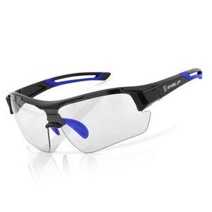 MidGard Fahrradbrille Sportbrille e-Bike Brille selbsttönend  Blau