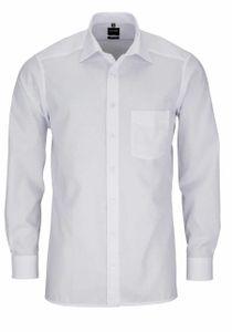 Olymp Modern Fit Hemd Extra Langer Arm Popeline Weiß 0300/69/00 Al 69, Größe: 44