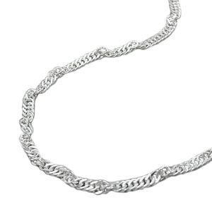 Bikinikette Bauchkette 2 mm Singapur diamantiert 925 Silber 90 cm inklusive kleiner Schmuckbox