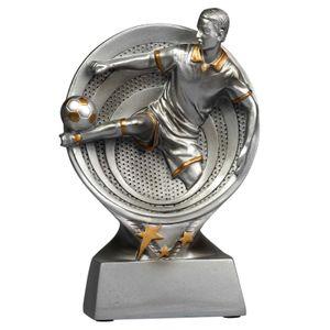 Fußball Pokal ALES 13 cm hoch Trophäe Resinfigur aus Keramik