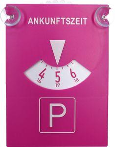 Parkscheibe Pink mit Sauger
