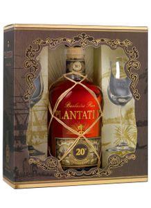 Plantation Rum Barbados Extra Old 20 Anniversary mit Gläsern 0,7 L