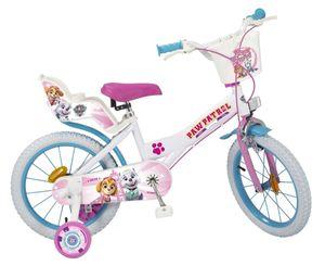 16 Zoll Disney Kinder Mädchen Fahrrad Kinderfahrrad Kinderrad Mädchenfahrrad Rad Bike Paw Patrol Weiß